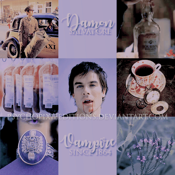 Damon Salvatore {Moodboard} by PsychoPixieEditions