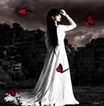 Red Butterflies by Mylene-C