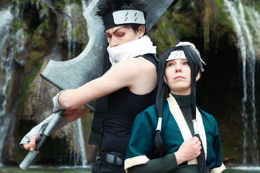 Haku / Zabuza - Naruto (Photo Retouch) by Mylene-C