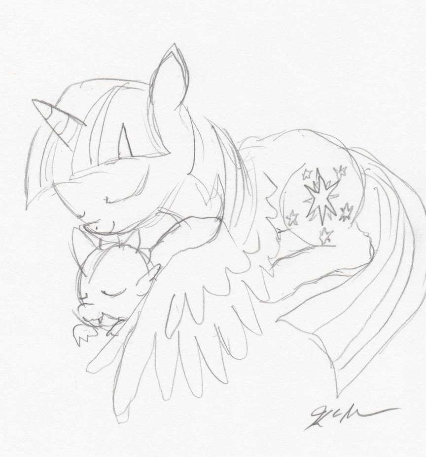 Dragon Pilow is Best Pillow Sketch by Himawari by TheDescendantofKehAn