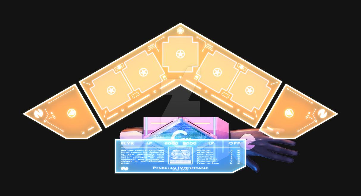 Duel Disk - Yu-Gi-Oh x Hyperdimension Neptunia by Pencil-X-Paper