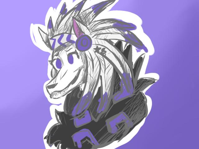 My Animal Jam Wolf! by KkandyKrystals
