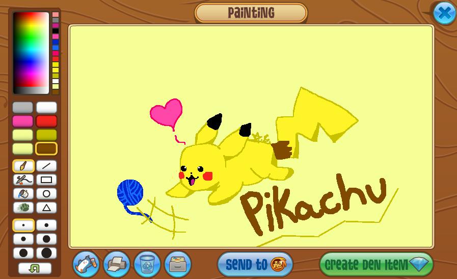 Animal Jam Pikachu Art! by KkandyKrystals