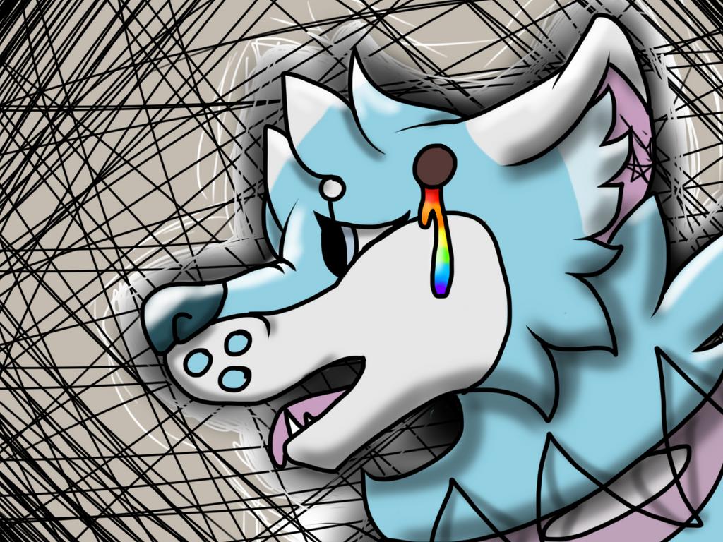 Wolf oc (kinda pastel gore) by KkandyKrystals