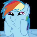 Rainbow Dash Face Vector