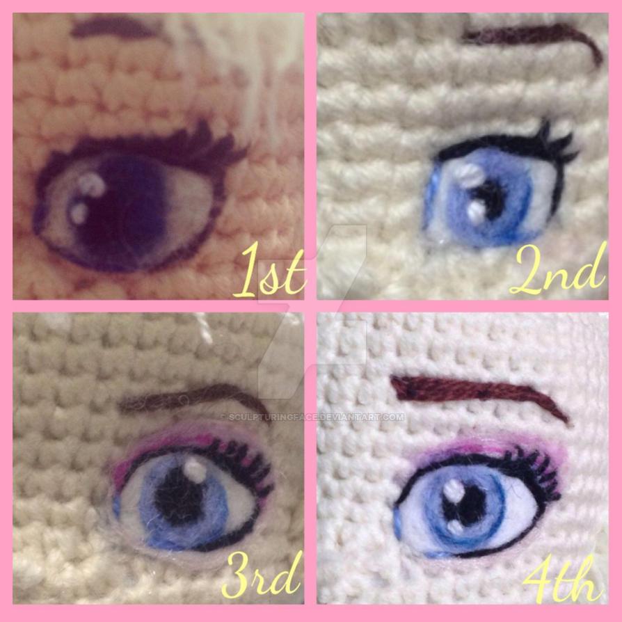Needle felted eyes by Sculpturingface on DeviantArt