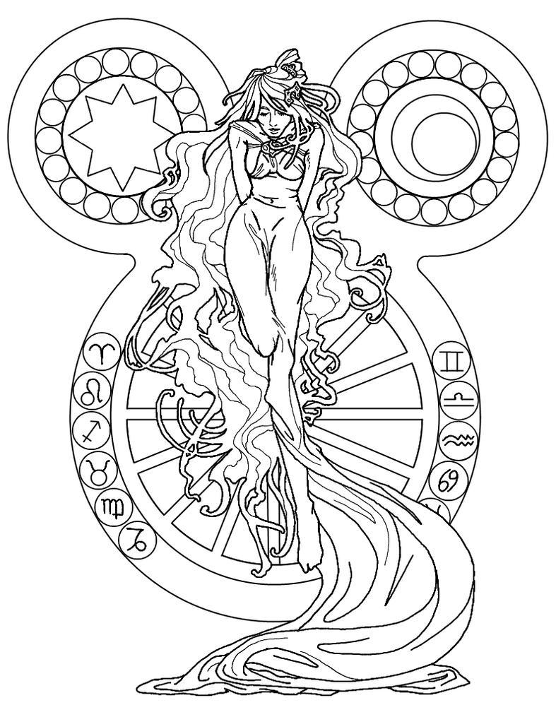 Art nouveau oracle by supernaiasan on deviantart Xena coloring book