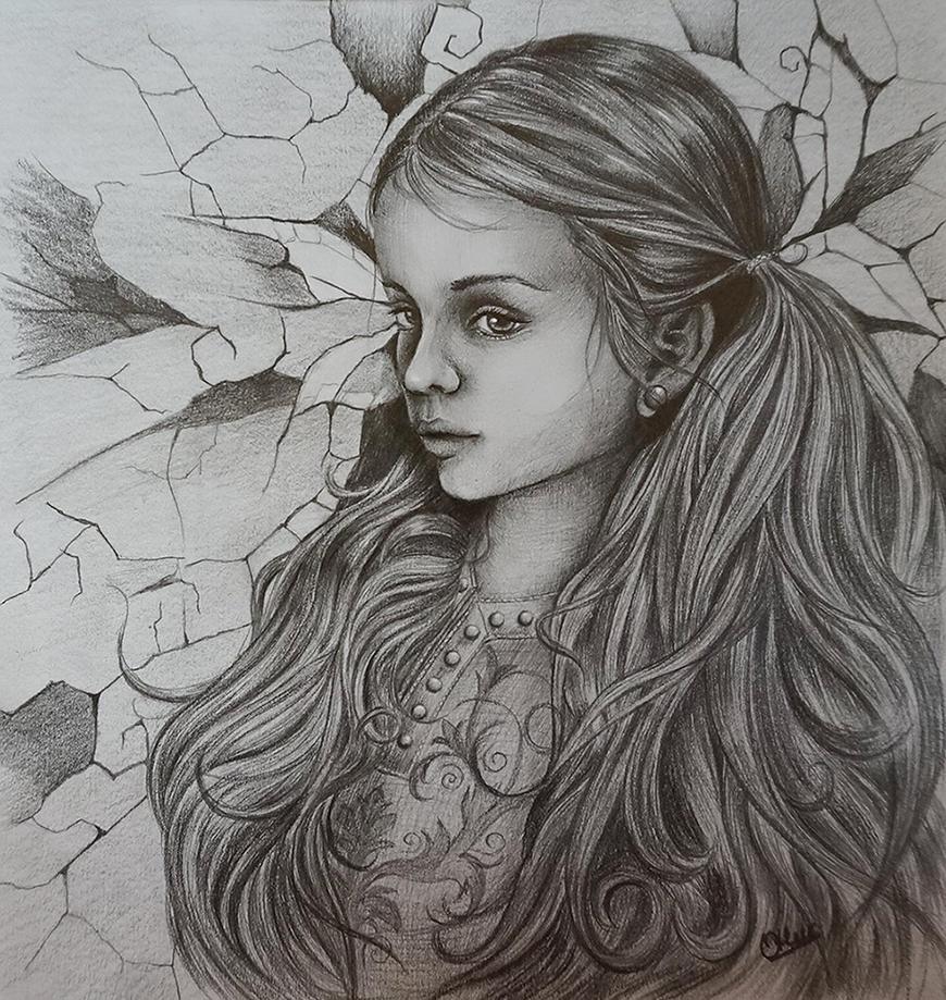 The girl by Olya-N-i-k