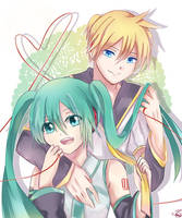 Len and Miku :LenMiku's cover song in description by HaiperKun