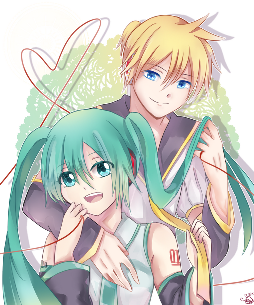 Len and Miku :LenMiku's cover song in description by ...  Len and Miku :L...