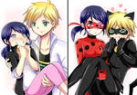 Lady Bug and Cat noir : Before and After tranfroms by HaiperKun