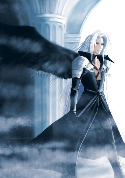 Sephiroth by tinysaucepan