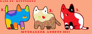 Kitten Adopts {25 points each!} 1/3 OPEN by Mudballer