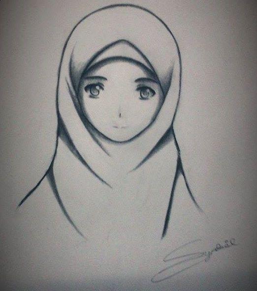 Manga Hijab Girl Drawing by syabiljohari on DeviantArt