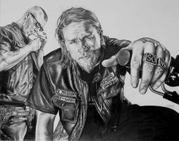 Sons of anarchy jax and juice by Draw4u