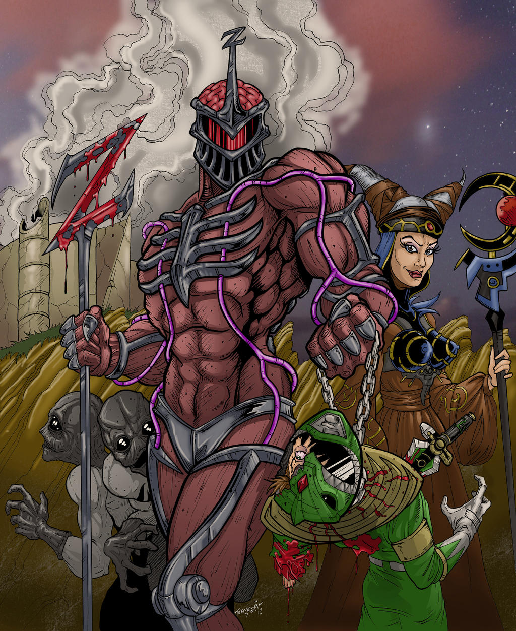 Mighty morphin power rangers season 2 episode 1 the mutiny part 1 this is the episode lord zedd appers and takes over