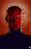 Pinhead Number 1 - Blood Red by SarshelYam