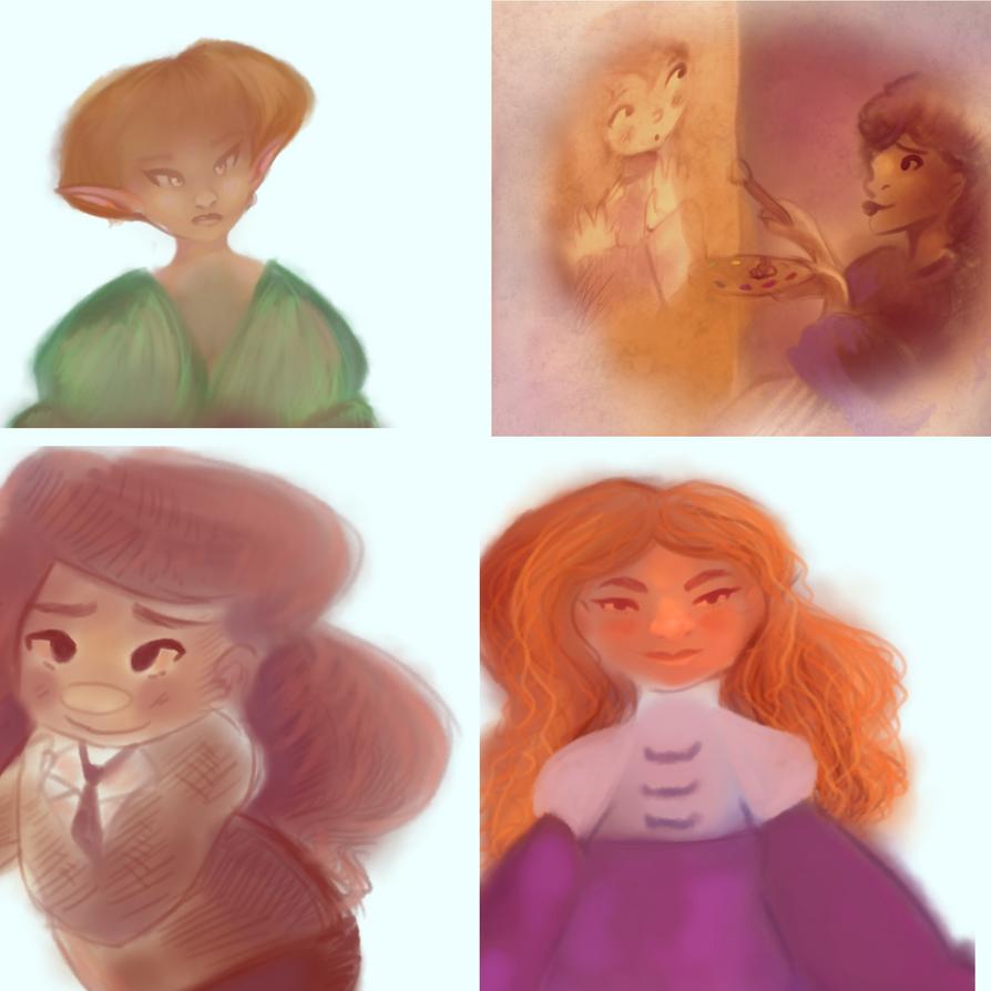 Wip Drawings by Vivyi