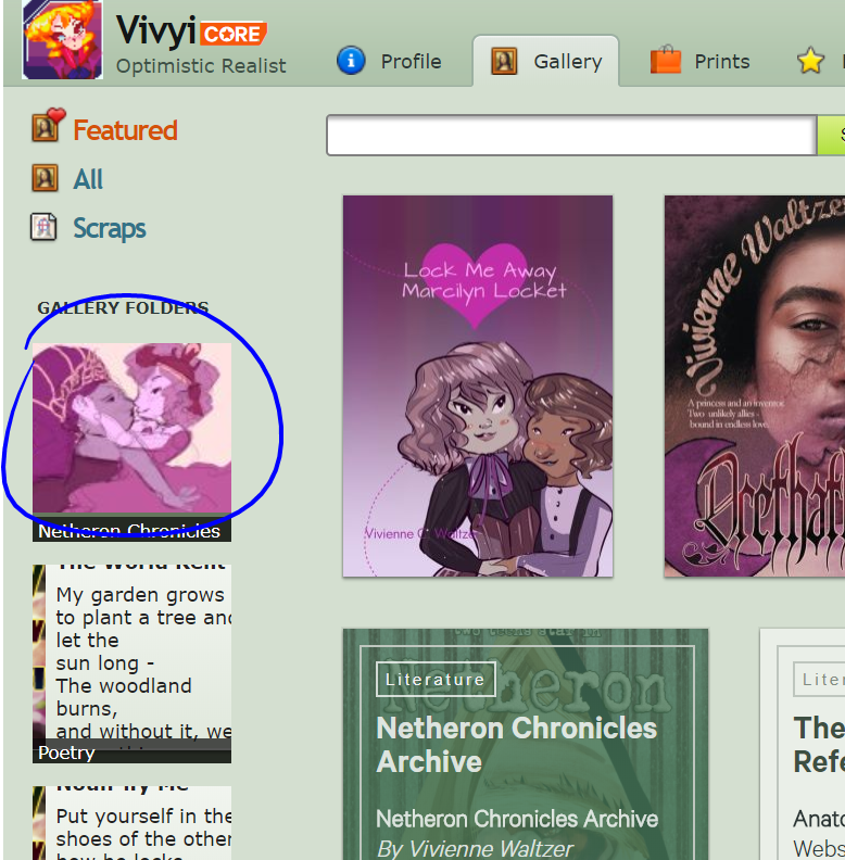 Click On Gallery Folder by Vivyi