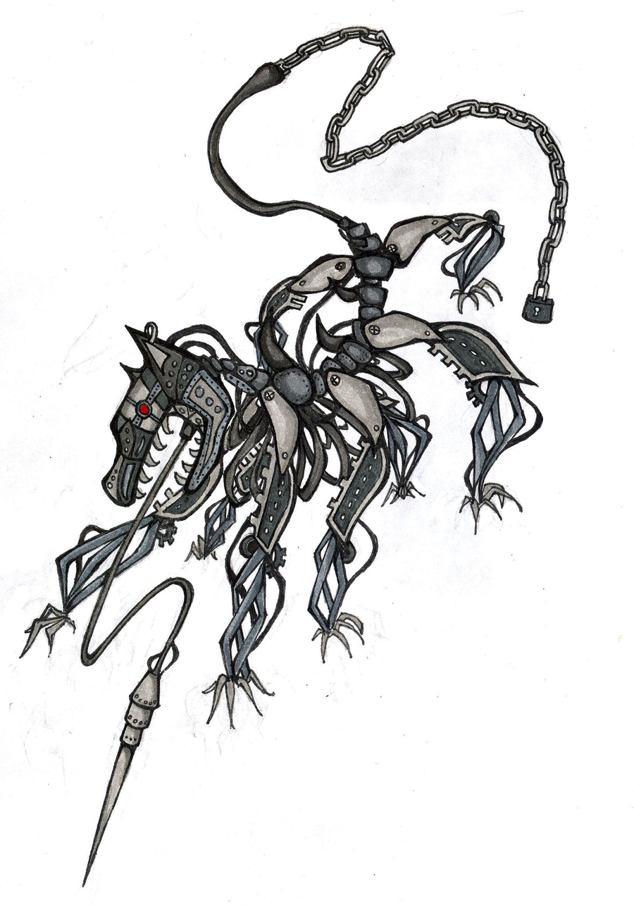 Mechanical hound tattoo design by exversailes on deviantart for Fahrenheit 451 tattoo