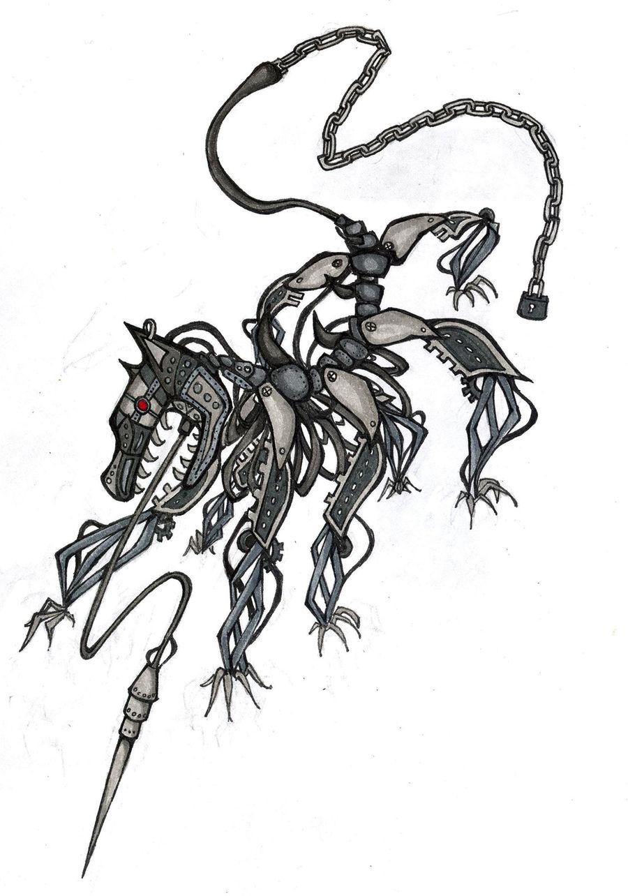 Mechanical Hound Tattoo Design by Exversailes on DeviantArt