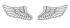 angel wings tattoo by FireryRage
