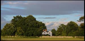 Summer Farmhouse Scene by TakeMeToAnotherPlace