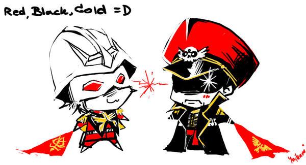 BLACK RED GOLD by yuikami-da