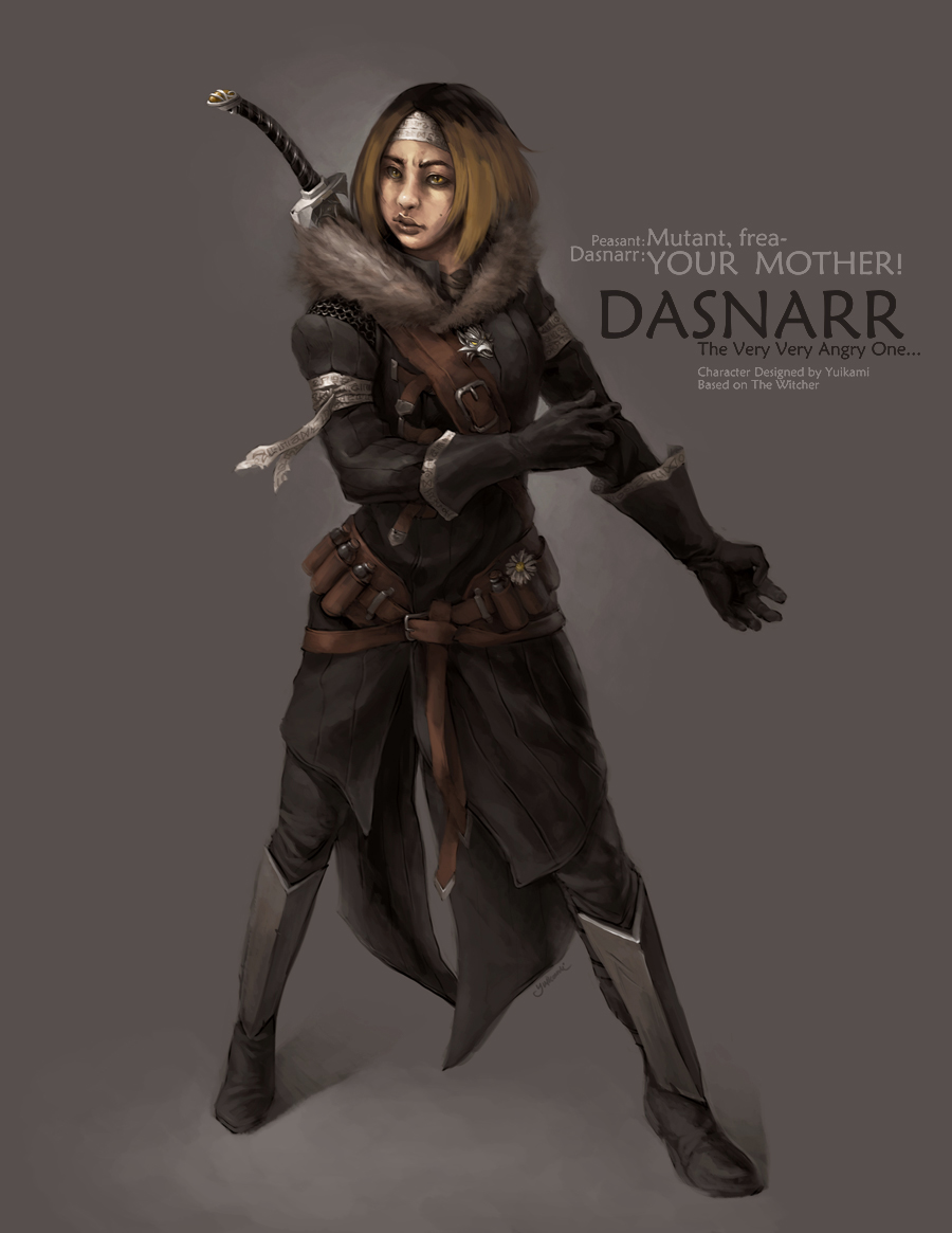 Dasnarr, The Witcher by yuikami-da