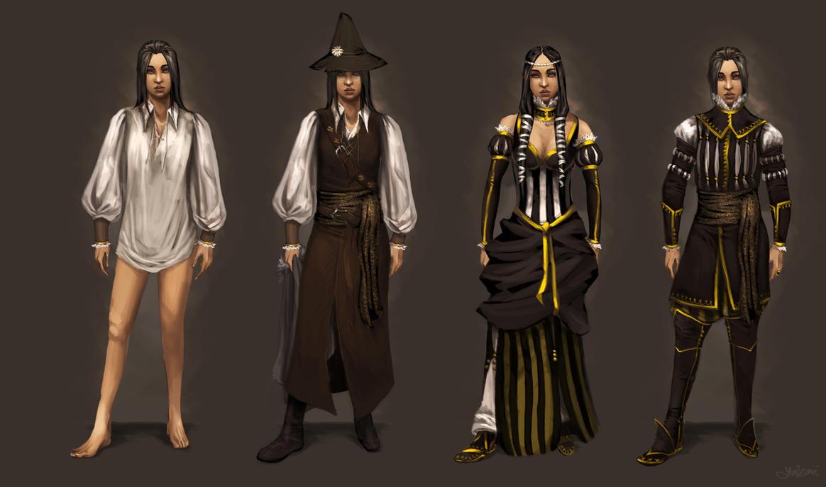 Lefou's Outfit Concept Sketch by yuikami-da