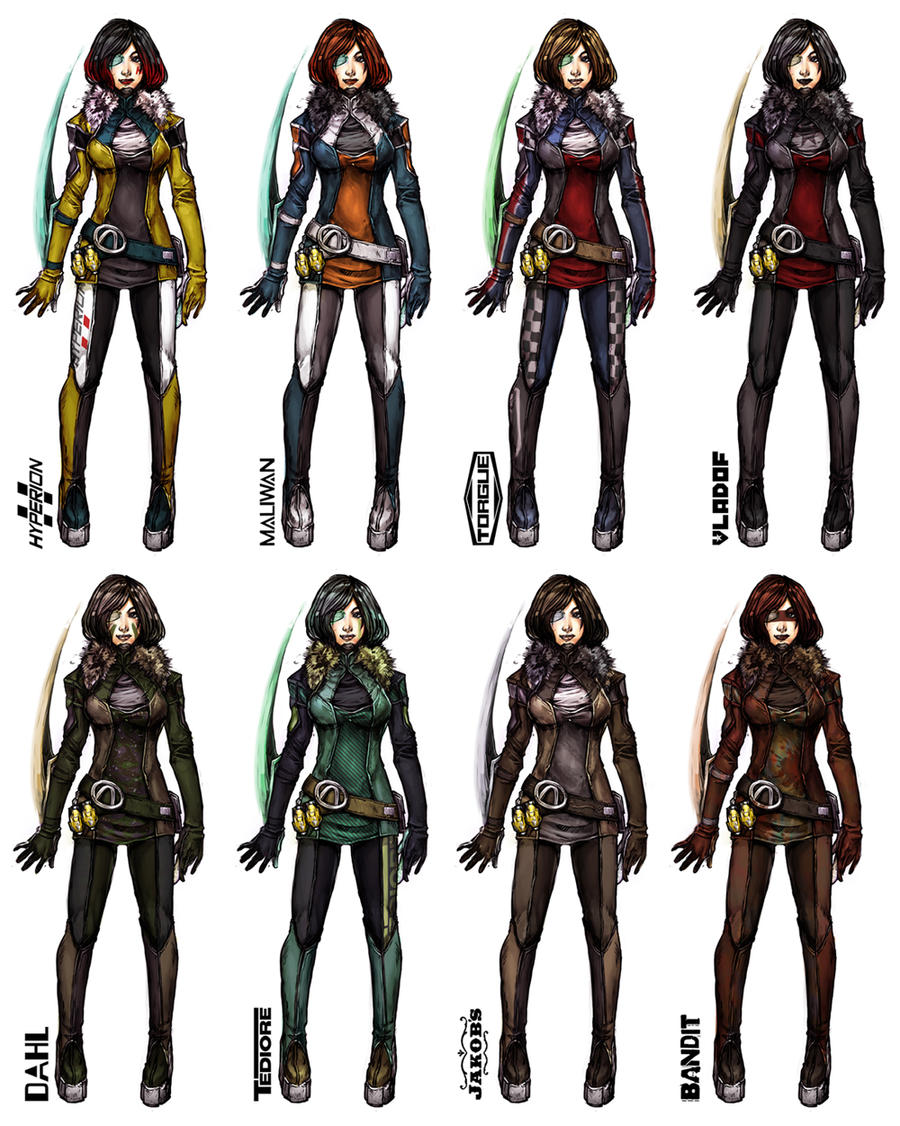 Borderlands OC - MORIONA manufacture skins by yuikami-da ...