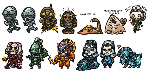 Warframe - Enemy Chibi Set3
