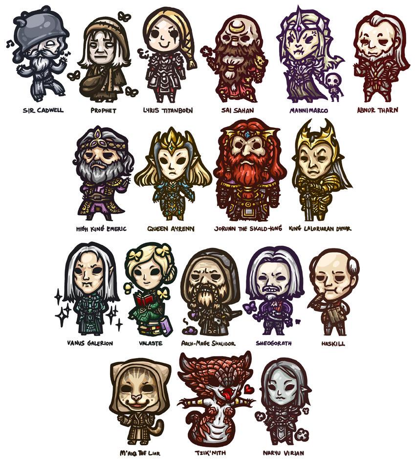 The Elder Scrolls Online - Chibi Set 1 by yuikami-da
