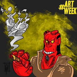 Hellboy artweek