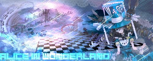 Alice In Wonderland Signature by Lyddz