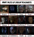 Many faces of Jason Voorhees