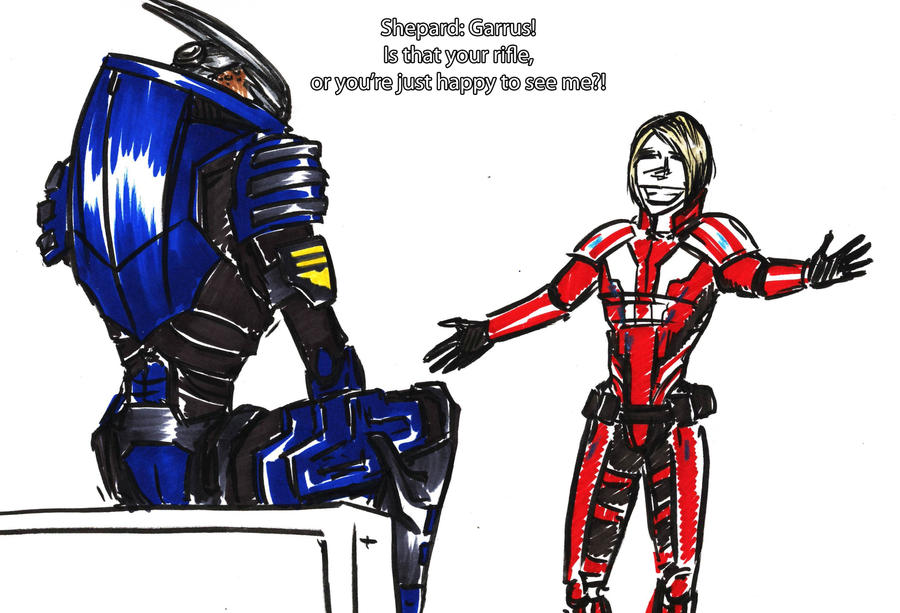 Greeting Garrus... by CyberII