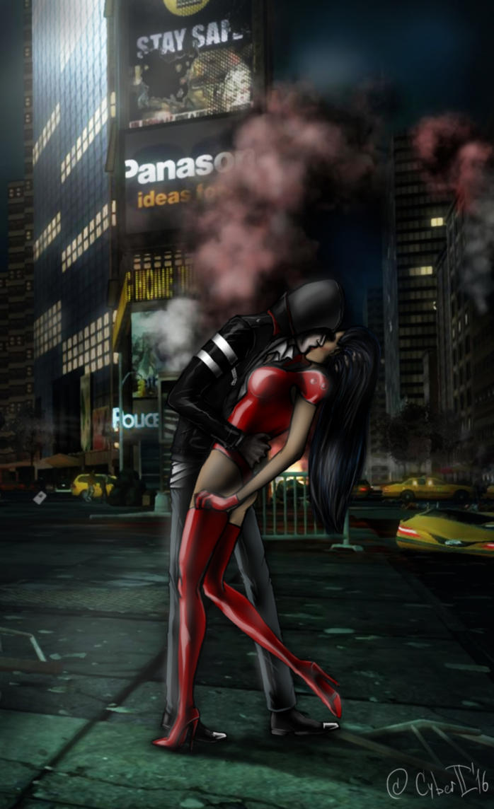 Apocalyptic Times Square Kiss by CyberII