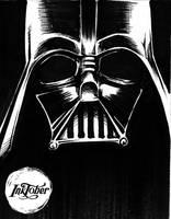 Inktober'17 Day 18 - Darth Vader by CyberII