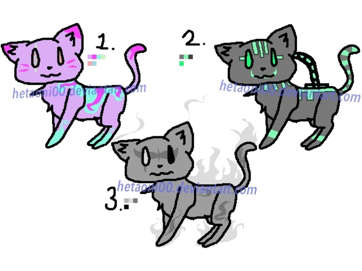 15 Point Cat Adopts [2/3 OPEN] by Hetaoni00