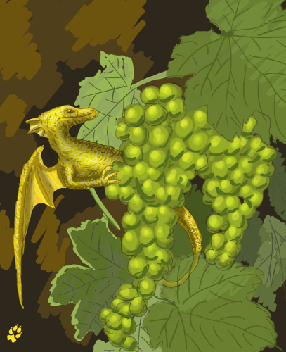 Grapes' dragon by Lothindil