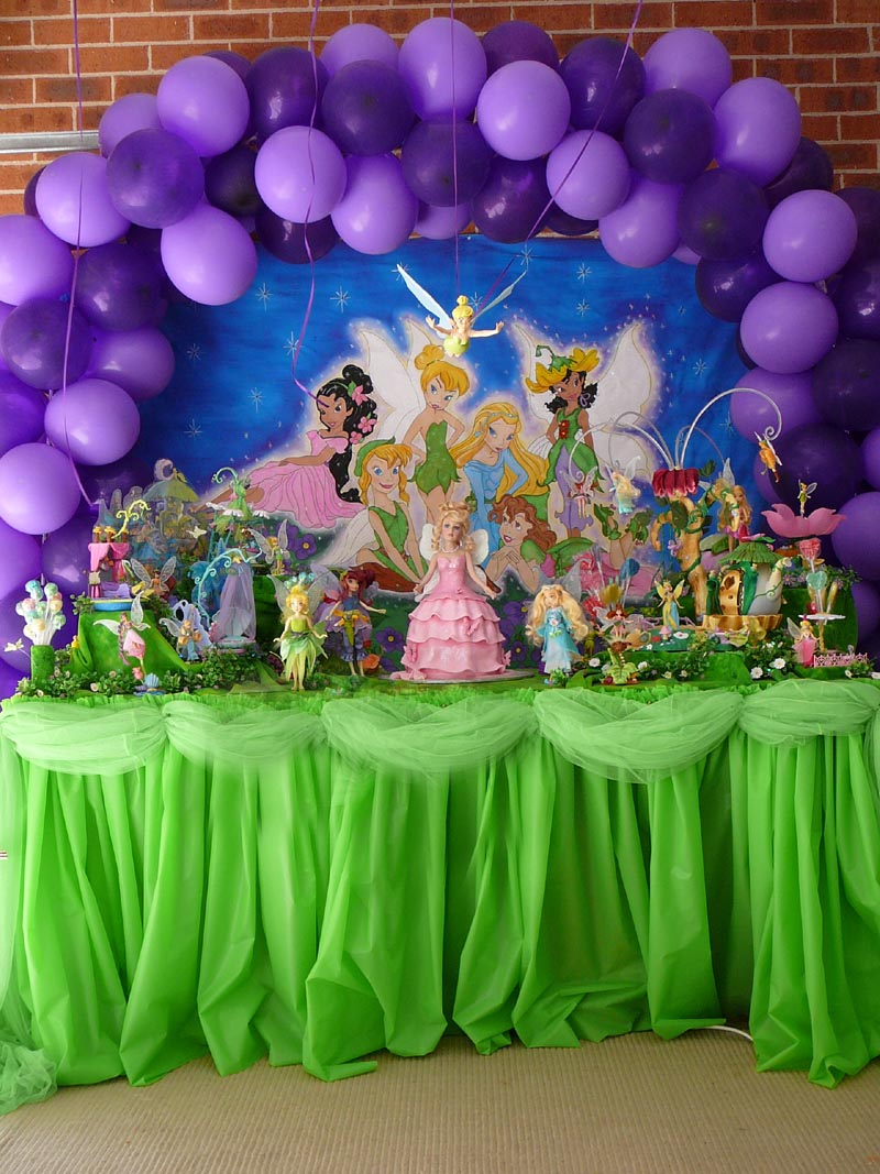 Tinkerbell party decoration by verusca on deviantart - Table deco anniversaire ...