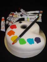 Artist Palette Cake by Verusca