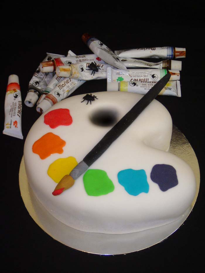 Pictures Of Cake Art : Artist Palette Cake by Verusca on DeviantArt