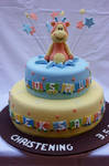 Giraffe Surprise Cake