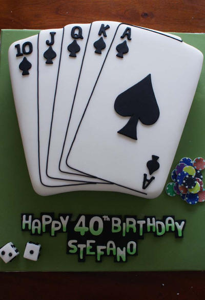 3D Table of Cards Cake by Verusca