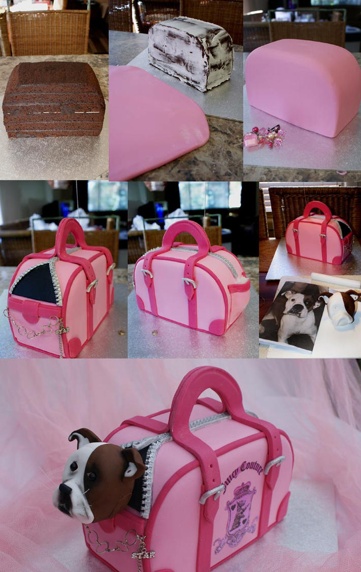Cake Images Step By Step : Dog Bag Cake Step-by-step by Verusca on DeviantArt