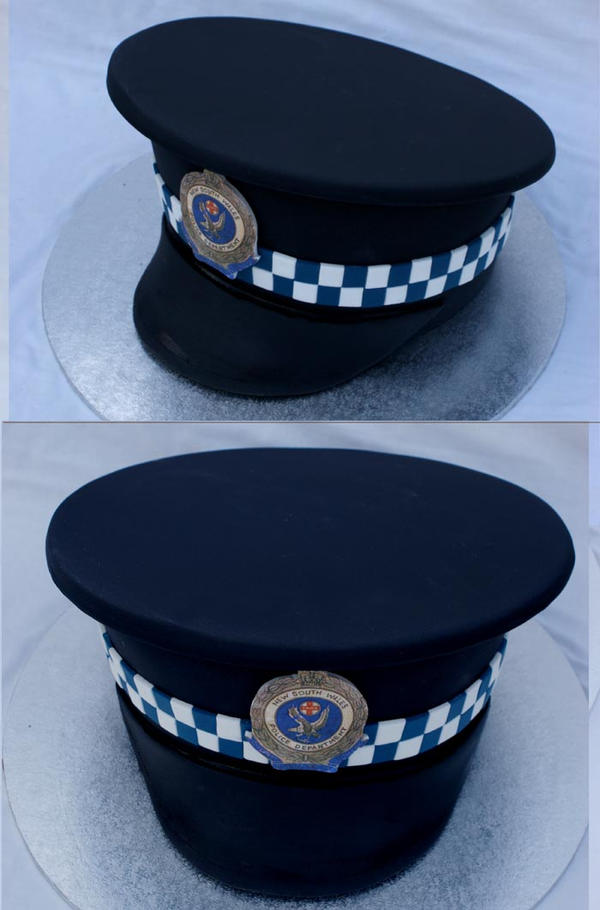 Police hat Cake by Verusca