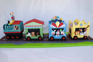 Circus Train Cake by Verusca