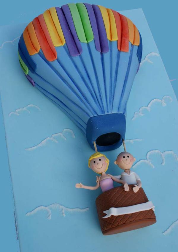 Hot-Air Balloon Cake by Verusca